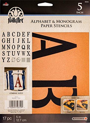 FolkArt 50319 Stencil Paper, Alphabet & Monogram Serif 5