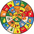 """Hr 8f T X 8 Ft Round Kids Educational / Play Time Non-slip Area Rug (7' 6""""x7' 6"""")"""