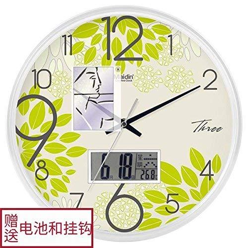 壁時計 スタイリッシュな大胆な古典的なクォーツ大きな壁掛け時計非刻々としたサイレントリビングルームの壁掛け時計創造的なファッションクォーツ時計   B07RDDBF55