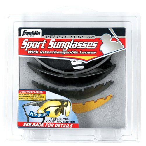 Franklin Sports MLB 3 Lens, Flip-Up - Sunglasses Baseball Flip Up
