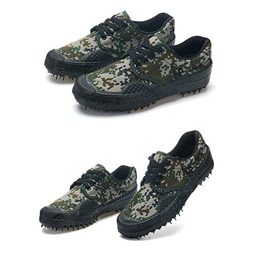 Unisexe Casual Respirant Camouflage Militaire Trainers Armée Sport Chaussures Durable Non-Slip Low-Top Sneakers en Plein Air Travail Chaussures Trekking Randonnée Chaussures