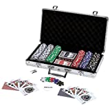 Spok309 Wholesale 309pc Poker Chip Set in Aluminum Case Games Table Play Cards
