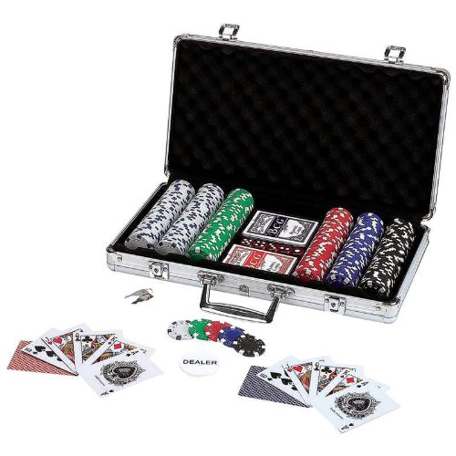 Spok309 Wholesale 309pc Poker Chip Set in Aluminum Case Games Table Play Cards by ymorking