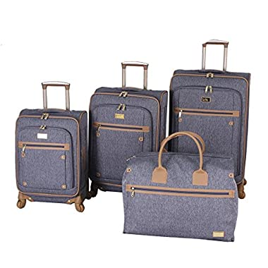 Nicole Miller Taylor Set of 4: Box Bag, 20 , 24 , 28  Spinner Luggages (Gray)