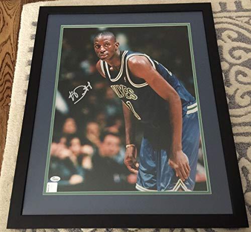 Kevin Garnett Autographed Signed Rookie Autographed Signed Framed 16x20 - JSA Certified #K46783 Timberwolves