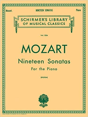 mozart 19 sonatas complete piano solo schirmers library of musical classics vol 1304
