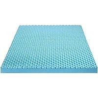 Olee Sleep 3 I Gel Memory Foam Air Flow Topper, Full, Blue