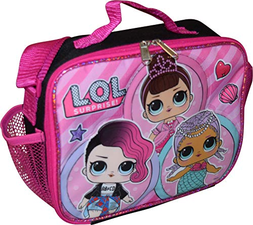 L.O.L Surprise!! Girl's Deluxe Embossed Insulated Lunch Box With Shoulder Strap