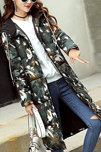 Da Elegante Addensare Pelliccia Outdoor Giacca Donna Fashion Lightweight Fit Warm Con Trapuntato Camouflage Girl Parka Winter Laisla Long Cappotto Slim Cl��sico wOBxS