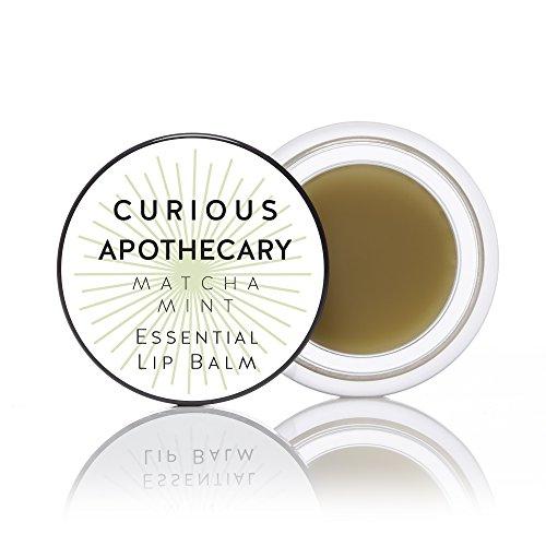 - Curious Apothecary Matcha Mint lip balm. Natural Matcha green tea and mint, argan oil. Antioxidant power and freshen your lips.