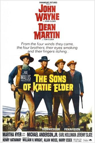 the Sons of Katie Elder movie poster John Wayne Dean Martin guns smoke reproduction,