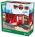 BRIO World - 33736 Grand Roundhouse   2 Piece Toy Train Accessory for Kids Age 3 and Up