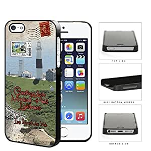 Montauk Point Postcard Long Island NY Hard Plastic Snap On Cell Phone Case Apple iPhone 5 5s