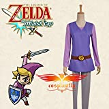 The-Legend-of-Zelda-Four-Swords-Adventures-Link-Blue-Red-Green-Purple-Four-Versions-Jacket-Pants-Hat-Cosplay-Costume