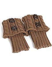 minkissy Dames Boot Sokken Winter Warm Haken Gebreide Boot Manchetten Sokken Zacht breien Voeten Warmer Beenwarmers Boot Cover Sokken voor Vrouwen (zwart)