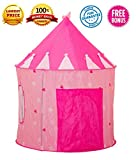 Pink Princess Play Tent for Girls with Bonus Flashlight by Toy Target | Pink Tent for Kids 4+ Years | Easy to Set Up, Lightweight, Durable Fabric | Compresses Flat for Easy Storage