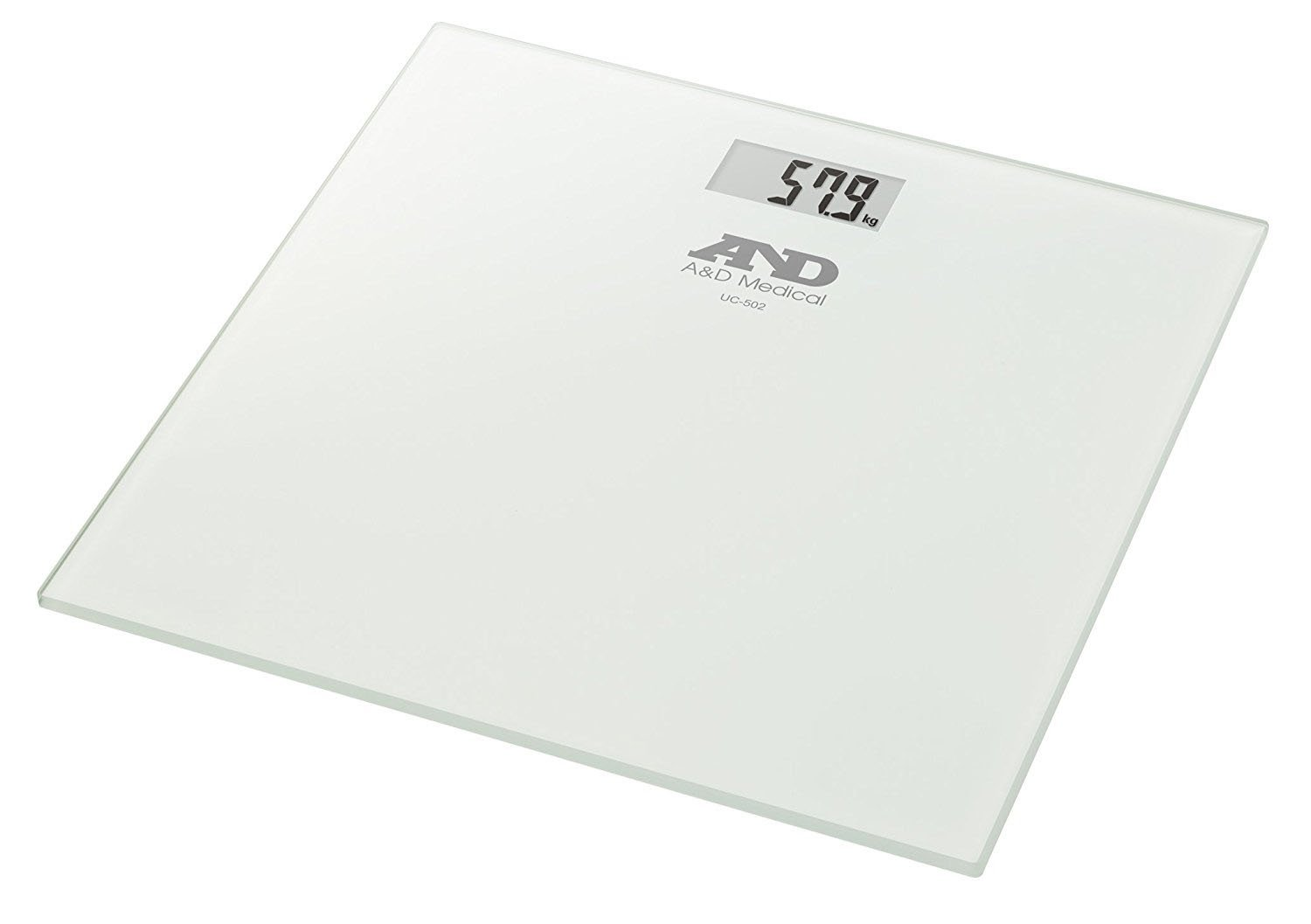 A&D Medical UC-502 High Precision Digital Body Weight Bathroom Scales with Step-On Technology, 28st/180kg/400lb, Slim Design