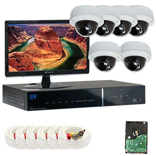 Best Sale High End Professional 8 Channel H.264 960H & D1 Realtime DVR Security Camera System with 6 x 1/3