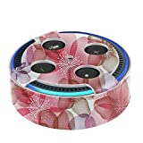 Fintie Protective Case for Amazon Echo Dot (Fits All-New Echo Dot 2nd Generation Only) - Premium Vegan Leather Cover Sleeve Skins, Floral Purple