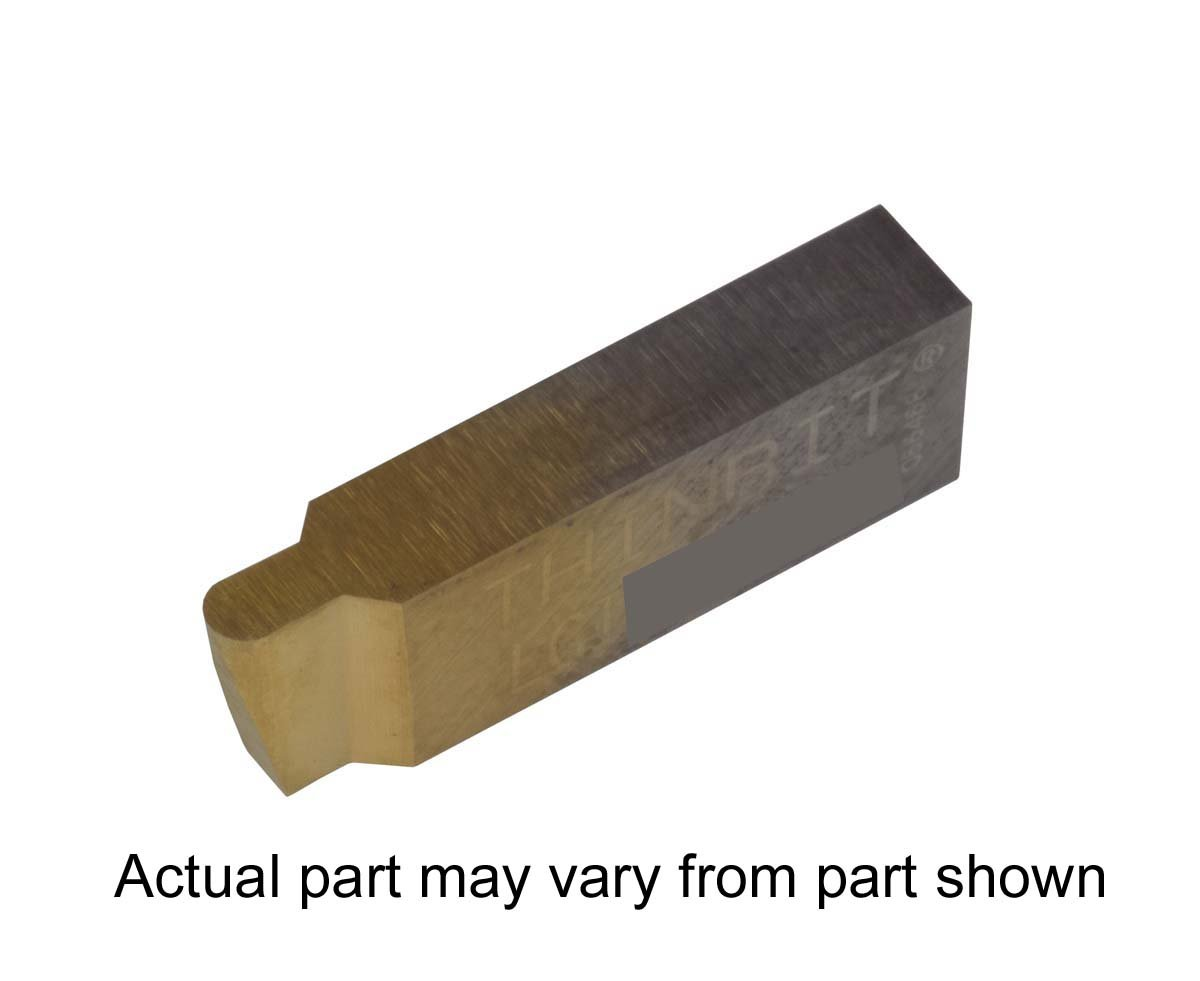 Corner Radius 0.007 TiN Coated Carbide Grooving Insert for Stainless Steel Without Interrupted Cuts THINBIT 3 Pack LGI064D5CR007C 0.064 Width 0.096 Depth