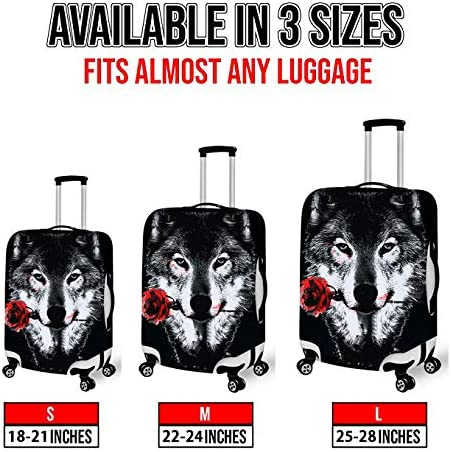 Washable Travel Luggage Cover Elastic Suitcase Trolley Protector Cover for 22-24 inch Luggage Japanese Crane Painting Moon