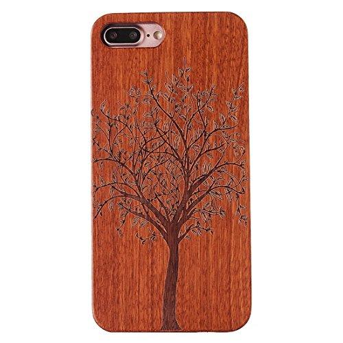 Protege tu iPhone, Para el iPhone 7 más el patrón del cráneo que talla la caja protectora de madera de la contraportada del palisandro Para el teléfono celular de Iphone. ( SKU : Ip7p1260b ) Ip7p1260d