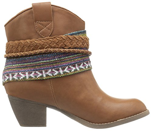 Rock Candy Women's Hollie Ankle Bootie Cognac/Tan/Multi OwrVYcTK