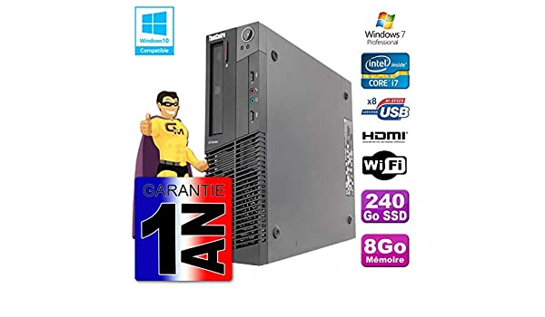 Lenovo Pc M92p SFF Intel i7 - 3770 8 GB DDR3 SSD 240 GB WiFi W7 ...