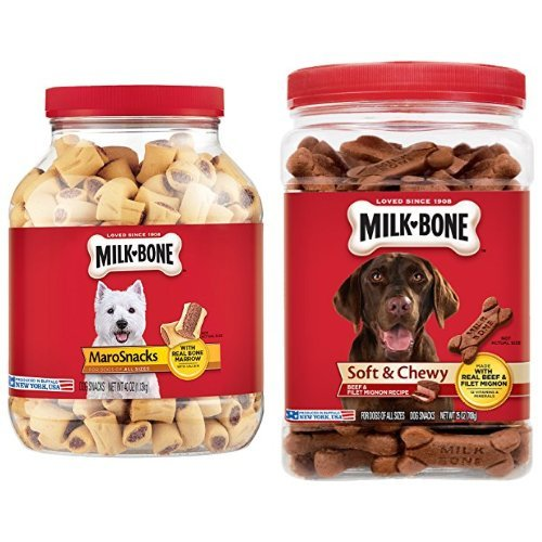 Milk-Bone Dog Treats Bundle: 40-Ounce Canister Marosnacks, 2