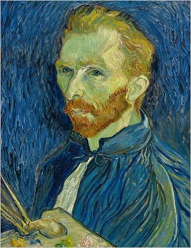 vincent van gogh self portrait journal 150 page lined notebook diary