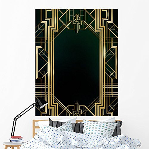 - Wallmonkeys Great Gatsby Art Deco Wall Mural Peel and Stick Vinyl Graphic (60 in H x 46 in W) WM368168