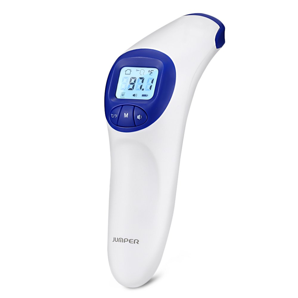 GBlife Digital Infrared Forehead Thermometer Medical Non-Contact Baby Room Instant Read Thermometer Blue