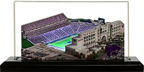 Kansas State Wildcats Snyder Family Stadium, Small Lighted in Display Case Stadium Display