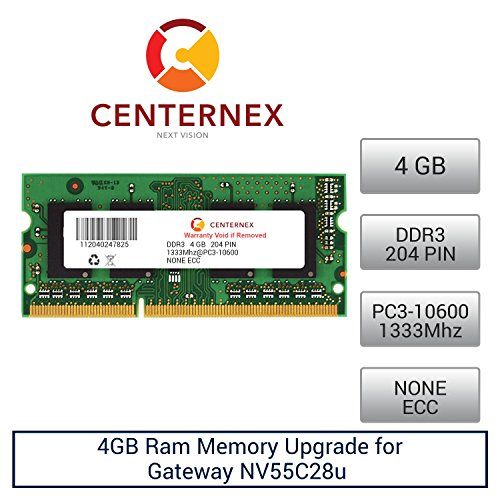 4GB RAM Memory for Gateway NV55C28u (DDR310600) Laptop Me...