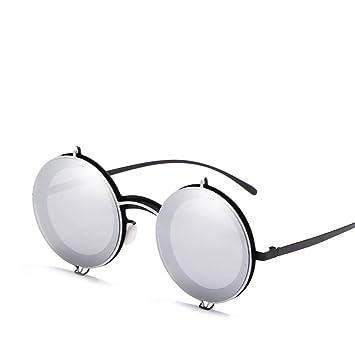 YWYU New Trend Gafas de Sol con Montura Redonda Metal Retro ...