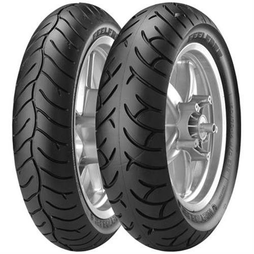 Metzeler Feelfree Tire - Front - 120/80-14 , Position: Front, Load Rating: 58, Speed Rating: S, Tire Size: 120/80-14, Rim Size: 14, Tire Type: Scooter/Moped, Tire Construction: Bias - 58 14