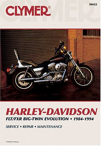 Motorcycle Harley Fxr - Clymer Harley-Davidson Flt/Fxr Big-Twin Evolution, 1984-1994 (Clymer Motorcycle Repair)