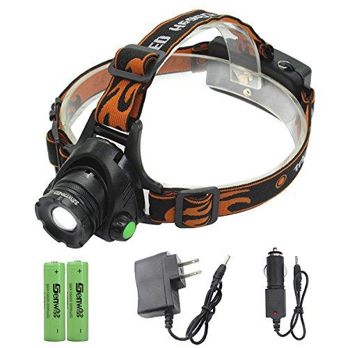 LED Headlamp Power Head Lamp - Genwiss 2000 Lumen XML T6 Hea
