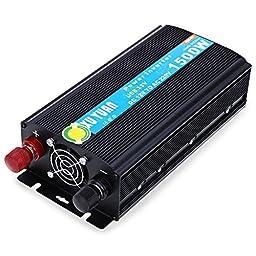 1500W DC 12V to AC 220V Solar Power Inverter Car Automotive Power Converter