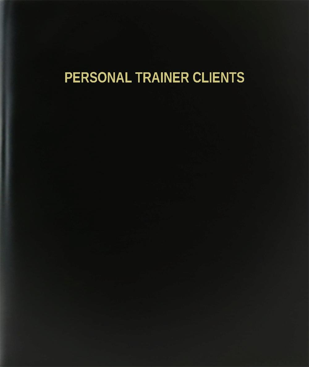 BookFactory® Personal Trainer Clients Log Book / Journal / Logbook - 120 Page, 8.5''x11'', Black Hardbound (XLog-120-7CS-A-L-Black(Personal Trainer Clients Log Book))