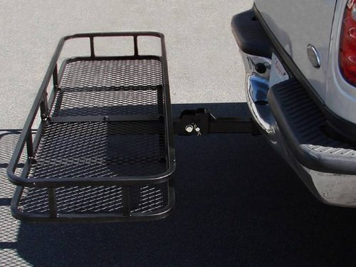 TMS 60inch x 20inch Hitch Mount Folding Cargo Carrier Basket w/ Weather-Resistant Luggage Bag by TMS (Image #7)