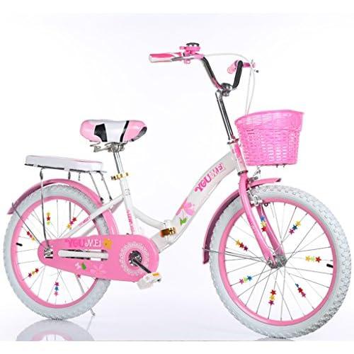 YON JIU Vélo En Acier, Garçons Et Filles Vélo Safe Childhood Personal Vélo 5-18 Ans Bébé Auxiliaire Roue Auxiliaire 115-128 CM (Color : D, Size : 128CM)