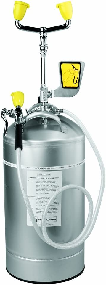 B0018LB9K0 Speakman SE-590 10-Gallon Portable Emergency Eye Wash with Drench Hose, Stainless Steel 51HVERuWS2BL.SL1000_