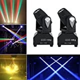 2pcs/set 50W LED RGBW Moving Head Stage Light DMX512 Disco DJ Party Effect Lights US Plug 110V
