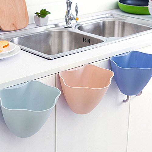 JD Million shop Creative Kitchen Trash Basket Hanging Waste Bin Storage Basket Multifunction Desktop Storage Box Plastic Storage Bucket