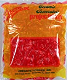 Creative Hobbies Ceramic Christmas Tree Replacement Lights, Medium Twist Light Ornaments, Red Color, 144 Piece Pack