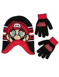 Nintendo Nintendo Super Mario - Gorro de invierno para niños de 4 a 7 años Set de accesorios de invierno para Niños