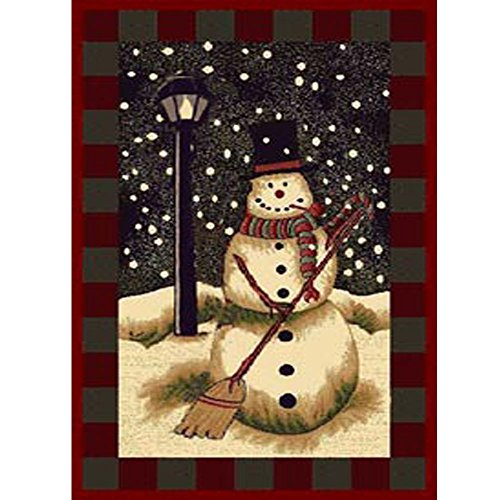 Christmas Rug Holiday Décor Snow Man Area Rug 3ft4in X 4ft6in +