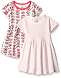 Touched by Nature Baby Girls' 2-Pack Organic Cotton Dress, Flower, 5 Toddler