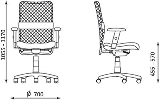 NOWY STYL Bürostuhl Rollen Stuhl Rollstuhl Armlehnen